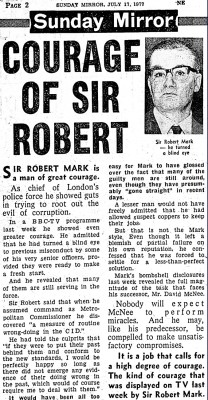 courage of Sir Robert