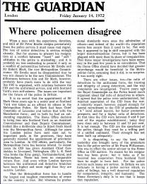Where policemen disagree