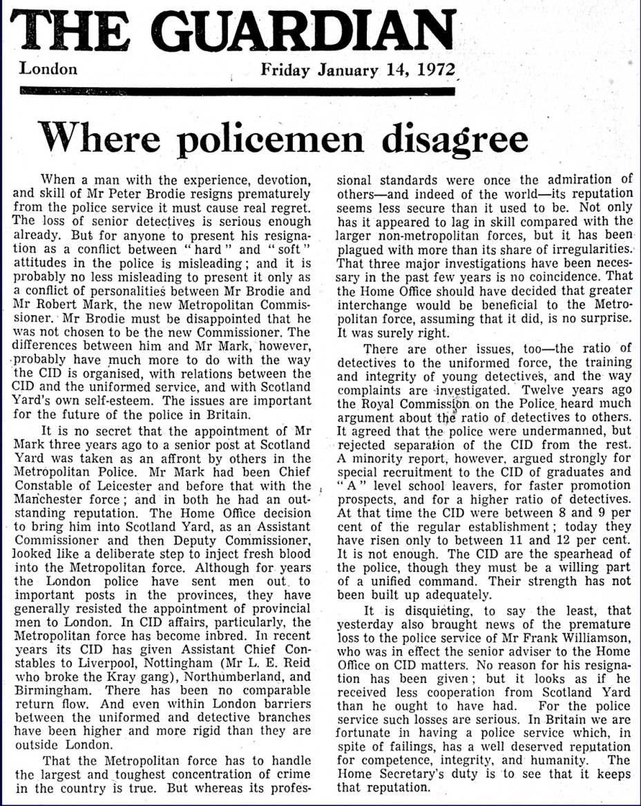 Where policemen disagree