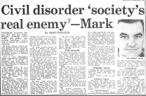 civil disorder - society's real enemy