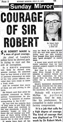 courage of Sir Robert