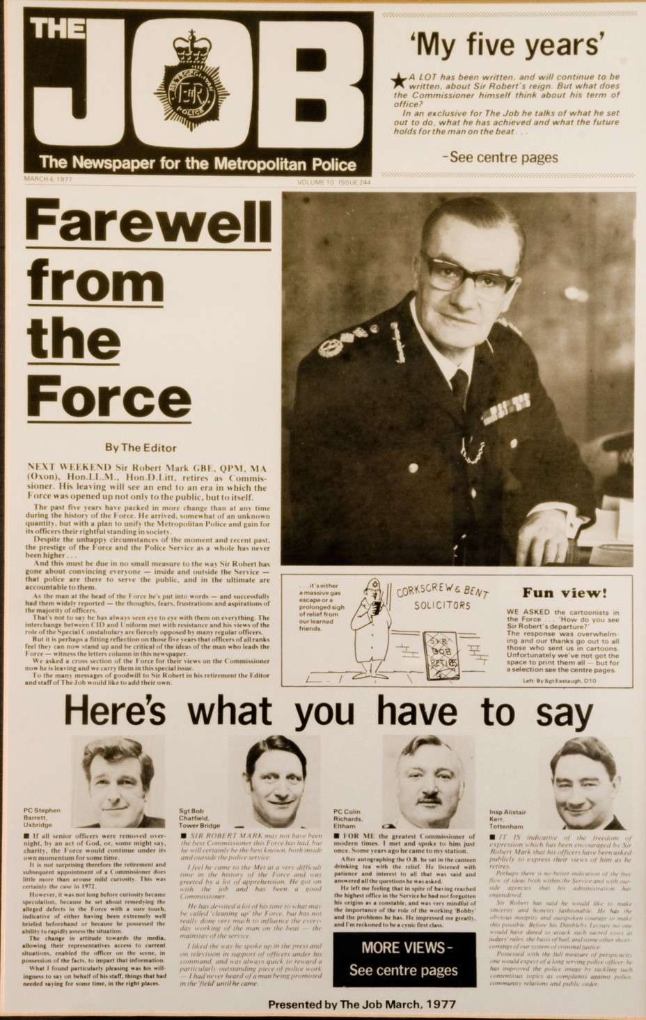 farewell from the force