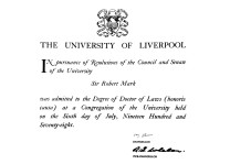 liverpool uni - doctor of laws