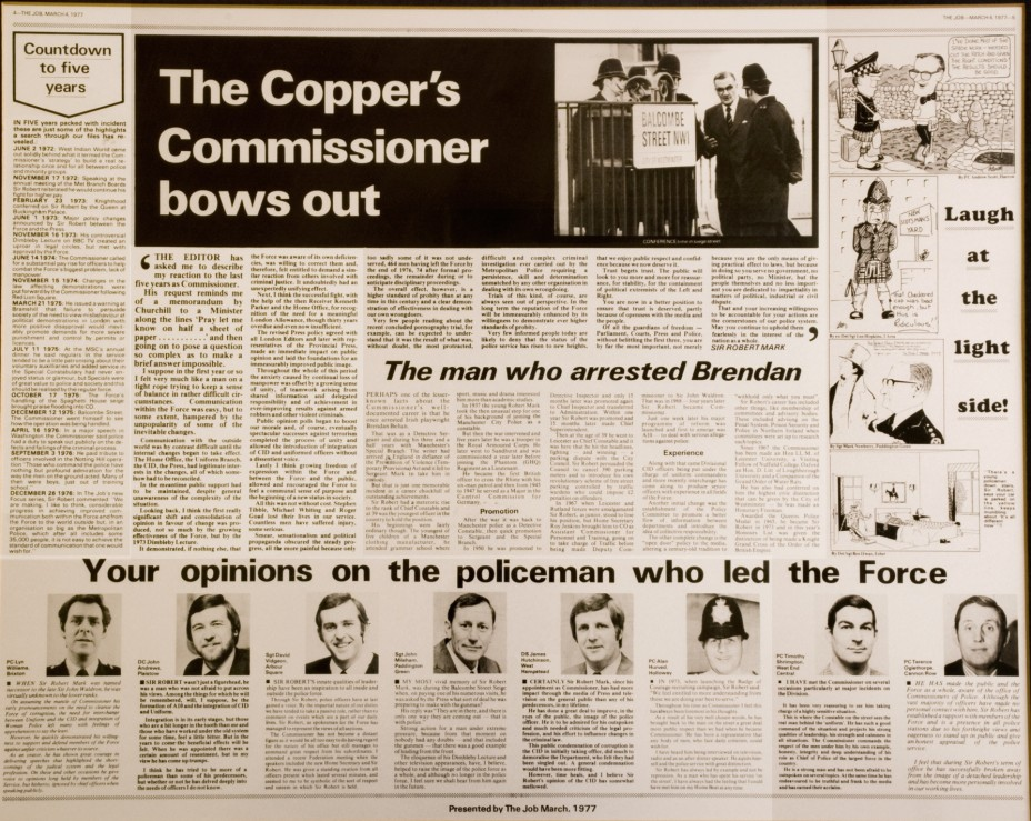 the coppers commissioner bows out
