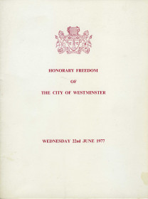 Honourary Freedom to City of Westminster